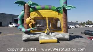 Dinosaur Jungle Bounce House