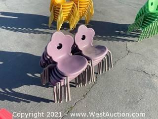 12 Royal Purple Cloverleaf Children's Chairs