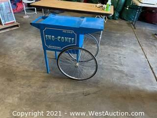 Snow Cone Concession Cart