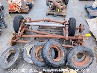 Pallet of (5) Trailer Axes & (8) Wheels