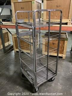 Rolling Wire Shelving Rack