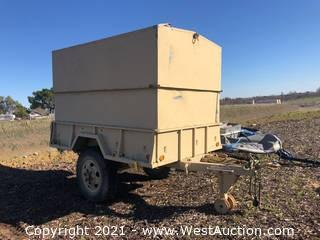 Enclosed Cargo Trailer with Military Storage Chest