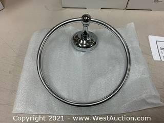 (6) Moen BP386CH Chrome Towel Ring