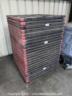 (25) Uni-Pallet Plastic Stacking Pallets