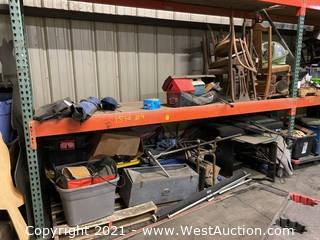 Contents Of Pallet Racking; Furniture, Camping Equipment, And More