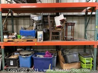 Contents Of Pallet Racking; Furniture, Decorations, And More