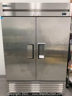 "True T-49F-HC 54"" Two Section Reach-In Freezer, (2) Solid Doors, 115v (Remaining Factory Warranty)"
