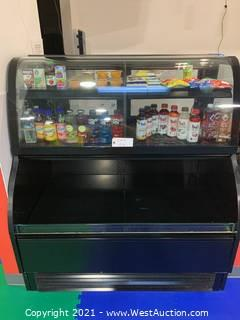 """Structural Concept HMBC4-E3 51"""" Dual-Service Bakery Case w/ Curved Glass Display Fridge Grab N Go"""