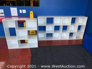 (3) Cubbies for Storage or Shoes - 3' x 3'