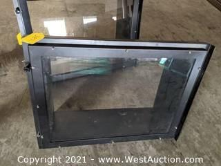 "25""x19"" window front frame and glass insert only"