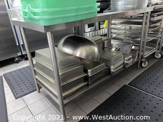 5' Stainless Steel Prep Counter (No Contents)