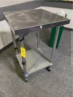 """Stainless Steel Cart 2' x 2' x 38-1/2"""""""