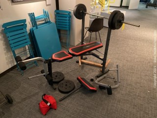 Weider Pro 256 Weight Bench Combo Set with Accessories