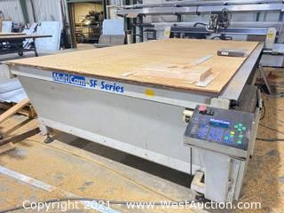 MultiCam SF Series CNC Table, Industrial Vacuum & Dust Collection Set