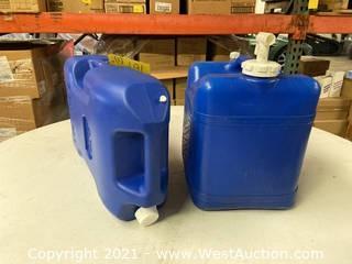 (2) 6 Gallon Liquid Tanks