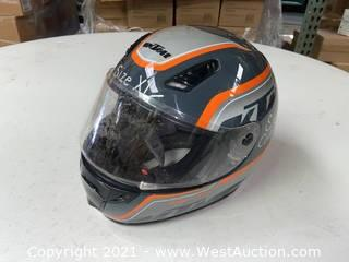 KTM Motorcycle Helmet (XL)