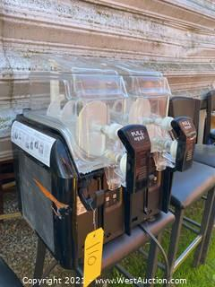 Fetco by Elmeco BB2 Big Biz Black Double 1.5 Gallon Frozen Beverage Machine