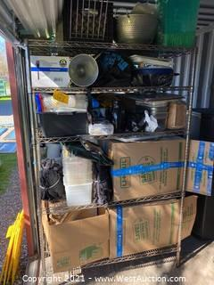 Contents Of Rack; Bins, Colander, Forks, Stainless Bins, Napkins, Table Organizers, Aprons and More