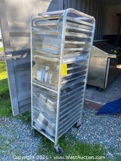 Bakery Sheet Pan Rack and Contents