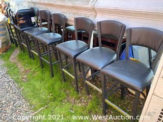 (10) Metal Cushioned Chairs