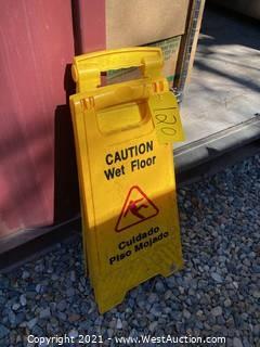(2) Wet Floor Signs