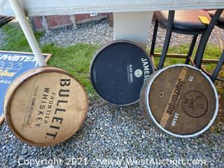 (3) Wooden Barrel Lids