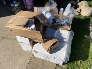 Bulk Lot: Cups, Napkins, Boxes, and More
