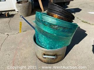 Bulk Lot: Stainless Steel Pot, and Pans