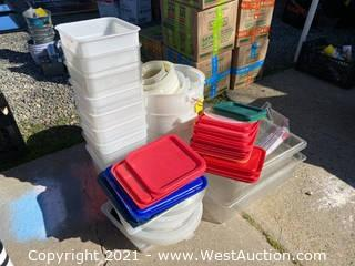 Bulk Lot: Plastic Bins and Buckets
