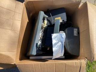 Box of Point of Sale System Parts and Units