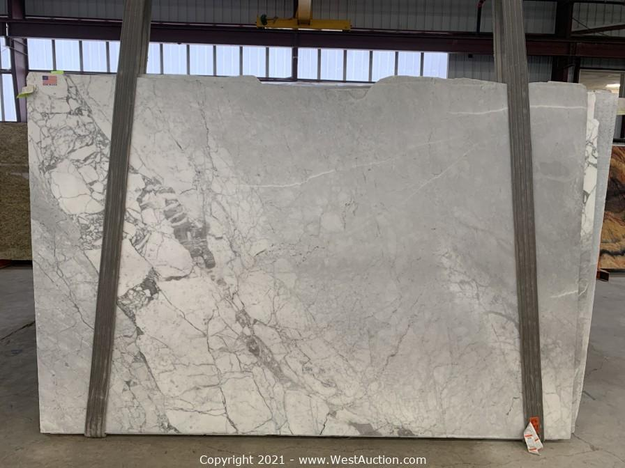 Surplus Auction of (440) Exotic Natural Stone Slabs