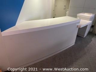 Quartz Contouring Countertop Registration Desk