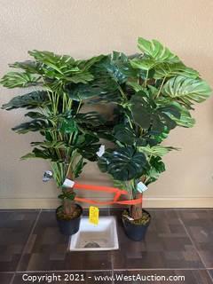 (2) Ashland Artificial Trees