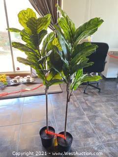(2) IKEA Fejka Artificial Potted Plants