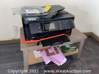 Epson WorkForce WF-7710 Wide-format AIO printer & Small Table