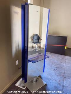 6' Double-sided Mirrored Pedestal