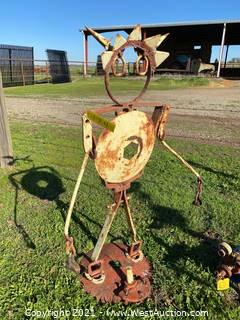 Welded Metal Lawn Statue Yard Art