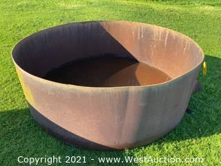 6.5' Circular Metal Bin