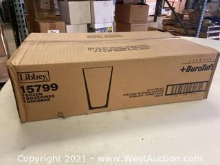 (2) Boxes Of (24) 12 Oz Stacking Beverage Glasses (15799)