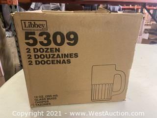 (1) Box Of (11) 12 Oz Glass Mugs (5309)