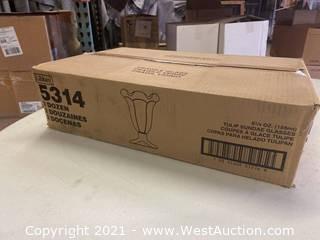 (1) Box Of (24) 5.25 Oz Tulip Sundae Glasses