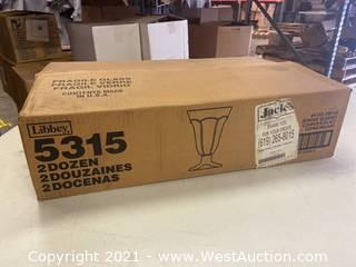 (1) Box Of (24) 6.25 Oz Sundae Glasses (5315)