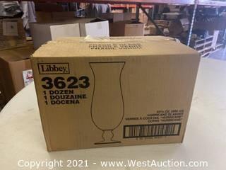 (1) Box Of (12) 23.5 Oz Hurricane Glasses (3623)