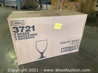 (3) Boxes Of (36) 10.5 Oz Goblet Glasses (3721)