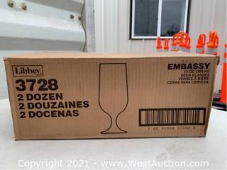 (2) Boxes Of (24) 12oz Beer Glasses (3728)