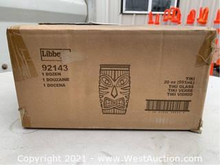 (2) Boxes Of (12) 20oz Tiki Glasses (92143)