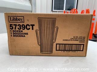 (1) Box Of (12) 16oz Cactus Cooler Glasses (5739CT)