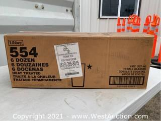 (1) Box Of (72) 8oz Hi-Ball Glasses (554)