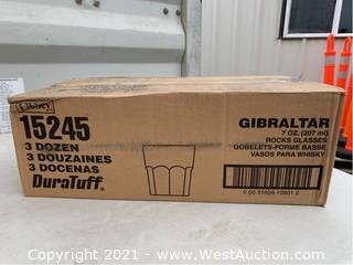 (1) Box Of (36) 7oz Rocks Glasses (15245)
