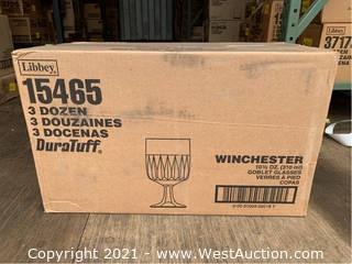 (1) Box (36) 10.5oz Goblet Glasses (15465)